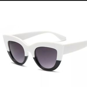 Black & white Cat Eye sunglasses, NEW